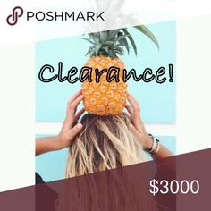 SUMMER CLEARANCE! Everything is marked down to its lowest! Bundle and save! Other