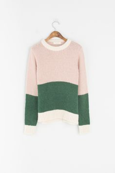 Olive - Mix Colour Round Jumper, Pink, £59.00 (http://www.oliveclothing.com/p-oliveunique-20161114-036-pink-mix-colour-round-jumper-pink)