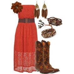 """Hey Girl""  I personally am not a cowboy boots gal but this is a cute outfit with boots"