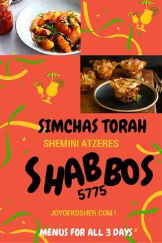 5 Menus for Shemini Atzeres, Simchas Torah, & Shabbos | Joy of Kosher with Jamie Geller