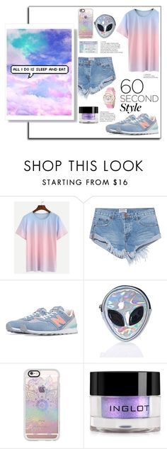 """It's not too late, never too late."" by lolapastel ❤ liked on Polyvore featuring OneTeaspoon, New Balance, Disturbia, Casetify, Inglot, ombre and 60secondstyle"