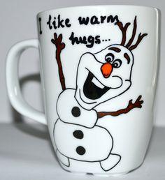 Frozen Olaf Coffee Mug I Like Warm Hugs