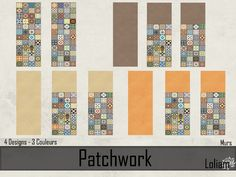 "Walls and Floors Set murs et sols ""Patchwork"""