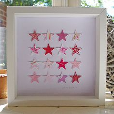 Paper Stars Picture by Lolly & Boo, the perfect gift for Explore more unique gifts in our curated marketplace. Butterfly Artwork, Butterfly Pictures, Paper Butterflies, Diy Décoration, Diy Crafts, Pink And Green Nursery, White Box Frame, Different Holidays, Star Pictures