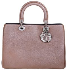 Christian Dior Tasche - Lady Dior Medium Metallized Taurillon Petal - in rosa…