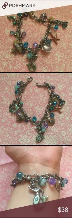 Kirks Folly Ocean Charm Bracelet This is so unique! Is real silver even though not marked. 7 inches long. Kirks Folly Jewelry Bracelets