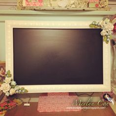 Shabby Chic Computer Monitor Frame