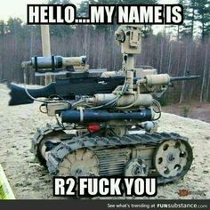 Military Pictures - Search our military gifs collection to salute our troops! Visit to search funny and cool military pictures, videos, memes and more - Keep Calm and Chive on! Military Robot, Military Jokes, Army Memes, Military Life, Humor Militar, Funny Memes, Hilarious, Twisted Humor, Airsoft