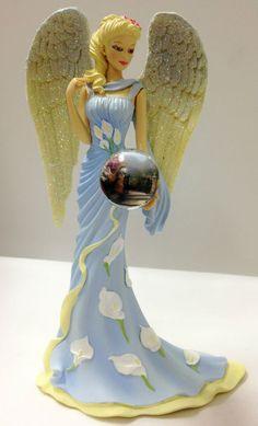 Guardian of the Victorian Garden Angel Figurine Bradford Exchange Thomas Kinkade