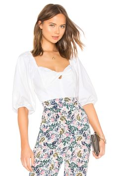 965ed37bb93 STATE Puff Sleeve Crop Top in Ultra White Cami Tops