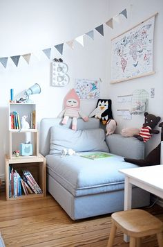 Decorating Accessories Reading and cozy corner in the children's room with Vallentuna sofa by Ikea Ikea Sofas, Ideas Habitaciones, Teen Bedroom, Girl Room, Kids And Parenting, Room Interior, Furniture Decor, Toddler Bed, Room Decor