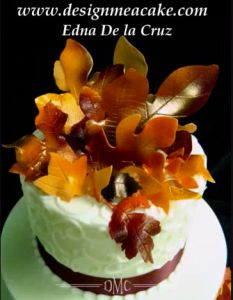 Gumpaste Fall Leaves Tutorial on Cake Central