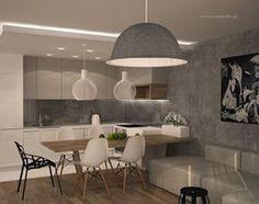 nowoczesne mieszkanie w Piasecznie - Średnia otwarta kuchnia w kształcie litery l w aneksie, styl nowoczesny - zdjęcie od Icona Studio