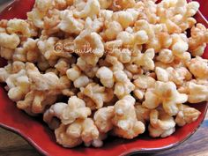 Addiction warning! This Caramel Puff Corn is easy to make and will disappear quickly!