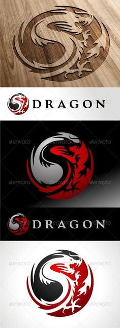 Dragon — Vector EPS #dragons #identity • Available here → https://graphicriver.net/item/dragon/8746610?ref=pxcr