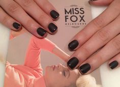 Matte black and gloss tips by MISS FOX www.missfox.com.au