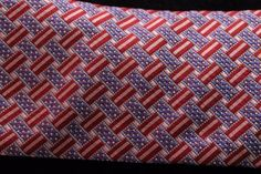 Mens-Private-Stock-PS-USA-Flag-Red-White-Blue-Necktie-Patriotic-Old-Glory