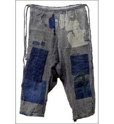 monpe: pantaloons | cotton + hemp | boro | Japan | c. late 1800s-early 1900s