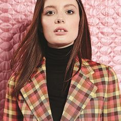 We have the absolutely gorgeous and super talented @olwencatherinekelly in our Bright Young Things feature this month where we are talking all things fashion and film. See what the Dublin born actress has to say in our new issue. Olsen wears check print jacket and wool turtle neck both by @prada available at @officialbrownthomas #BrightYoungThings #IrishTalent #Fashion #Film #Prada #BrownThomas Image by @veronikafaustmann  via IRISH TATLER MAGAZINE OFFICIAL INSTAGRAM - Celebrity  Fashion…