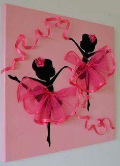 Wall art ballerina