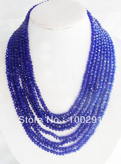 Free shipping !!! 8Rows Crystal Beads Necklace Jewelry Wholesale Price  $33.14