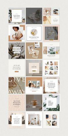 Instagram Feed Layout, Instagram Grid, Instagram Design, Instagram Story Template, Instagram Posts, Instagram Templates, Graphisches Design, Design Blog, Design Layouts