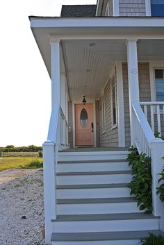 Pink front door. Beach house @ Narragansett, RI