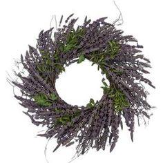 Faux Blue Salvia Wreath