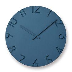 レムノス 掛け時計 文字を削り取み、空間にアクセントを与える。レムノス 掛け時計 壁掛け時計CARVED COLORED(カーヴドカラー) M/L※Mサイズの参考価格です。その他サイズの価格はご注文後にメールにてご案内致します【楽ギフ_包装】【送料無料】【在庫あり】【あす楽対応】