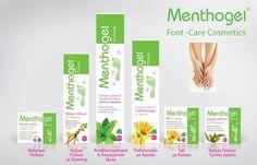 Ολοκληρωμένη φυτική σειρά καλλυντικής περιποίησης Menthogel για πόδια γεμάτα υγεία και ομορφιά #happyfeet #menthogelGreece Feet Care, Cosmetics, Map, Location Map, Foot Care, Maps, Makeup Geek