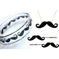 Moustache Accessories found on Polyvore