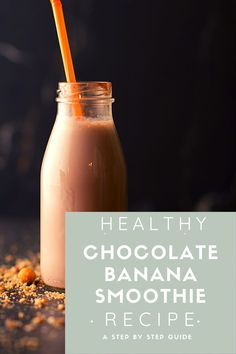 I blended this scrumptious wholesome chocolate banana smoothie (Whole30 compliant/vegan/GF) that is packed with ingredients plucked from nature.