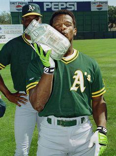 THE GRAND ARCHIVES Baseball Star, Baseball Players, Rickey Henderson, Negro League Baseball, Longhorns Football, San Jose Sharks, Oakland Athletics, Fleetwood Mac, Green And Gold
