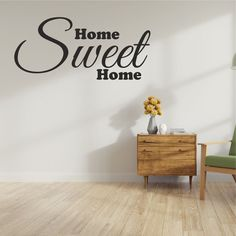 Home Sweet Home Wall Sticker Wall Stickers, Sweet Home, Living Room, House, Home Decor, Wall Clings, Homemade Home Decor, Wall Decals, House Beautiful