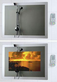 Waterproof Mirror TV TileVision from Porter Lancastrian Ltd - the bathroom television
