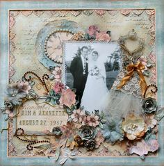 """Stunning LO - """"Remember"""" using A Ladies' Diary by Sandi Smith! Shared on our Ning site #graphic45 #layouts #scrapbooking"""