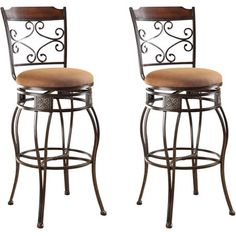 Bar Stools Swivel with Back Counter Height Pub Chairs Metal Cool Decor Saddle