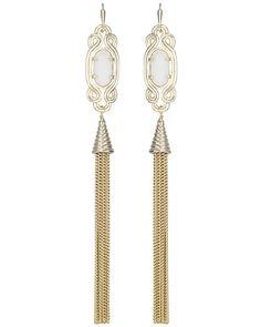 Erin Long Earrings in White - Kendra Scott Jewelry. Coming soon!