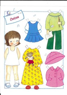 cute little girl paper doll