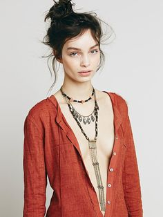 Free People Chain Ladder Necklace at Free People Clothing Boutique