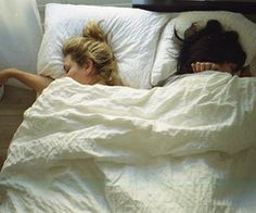 cuddled up in bed! :)