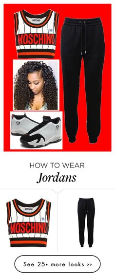 """Swag "" by kiarahcarson on Polyvore featuring Barbara Bui and Moschino"