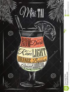 Mai Tai Cocktail Chalk - Download From Over 61 Million High Quality Stock Photos, Images, Vectors. Sign up for FREE today. Image: 50229668