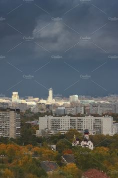 The city in the fall. Moscow. by Wonderful World on @creativemarket