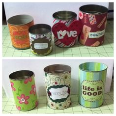 Altered cans  Pencil Holders