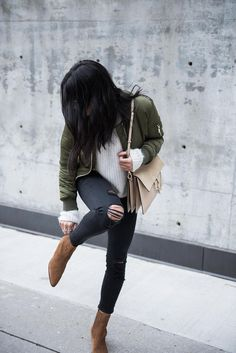Green Bomber Jacket | Not Your Standard https://www.fashionstyleshopping.com