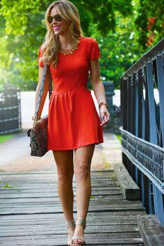 J. CREW Red Day Dress - Urban chic style - Valentine&39s Day Dress ...