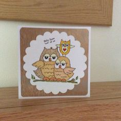 Birthday card with woodland stamp