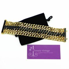 FENDI Bracelet Gold Plated Chain With Leather Good Condition Ref.code-(GTTL-5)