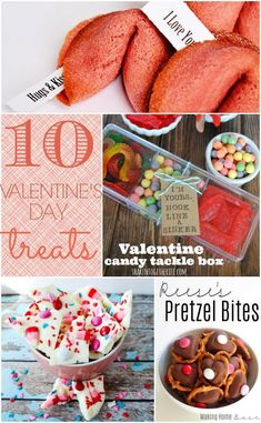 10 Valentines Day treat ideas that are creative, yummy, and actually doable. LOVE the tackle box idea. Lots of cute ideas.